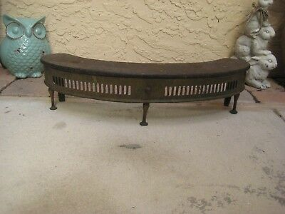 Antique Fireplace / Stove Insert Grate (?) / Brass & Cast Iron