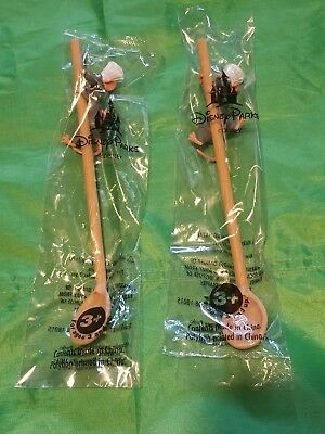 Disney Pixar Fest Ratatouille Remy Straw Spoon New! Lot Of 2 Pcs