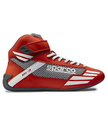 SPARCO Kart Racing SHOES Mens Mercury KB-3 RED Karting High Top Boots Race  NEW
