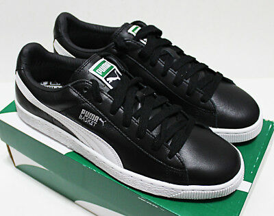 brand new ce7c1 2d267 NIB PUMA BASKET Classic Leather Black-White 10 Low Sneakers clyde court  disrupt