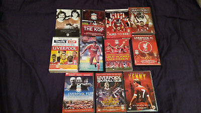 "Liverpool Football Club 16 DVDs inc ""Kenny"" and 1 VHS video."
