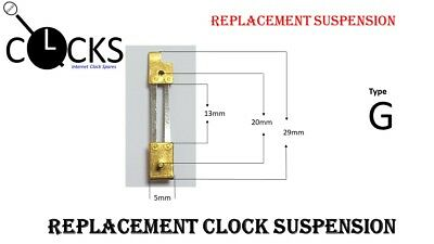 Brass Clock Pendulum Suspension Spring. (Type G) UK Seller