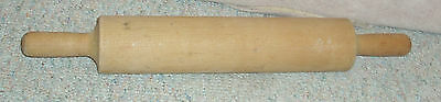 Vintage one piece wooden rolling pin , approx. 19""