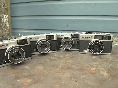 Collection of Olympus Trip's plus an Olympus ED