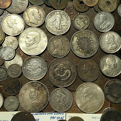144 Mostly Higher End Asian Coin Lot