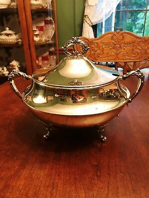 Antique Silver Plate Soup Tureen Hartford Sterling Co 1900-1931 Silver On Copper