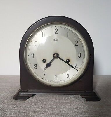 Smiths Enfield Bakelite Mantle Clock Working Pendulum