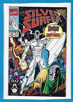 Silver Surfer #53_Late Aug 1991_Very Fine_Thanos_Infinity Gauntlet Crossover!