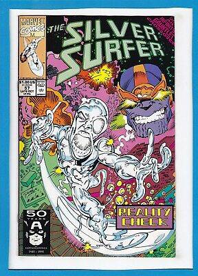 Silver Surfer #57_Late Oct 1991_Very Fine_Thanos_Infinity Gauntlet Crossover!