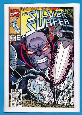 Silver Surfer #59_Late Nov 1991_Very Fine+_Thanos_Infinity Gauntlet Crossover!