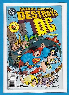 Sergio Arragones Destroys The Dc Universe #1_1996_Mark Evanier_Near Mint!