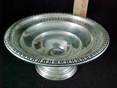 "Antique Wm.Rogers Sterling Reinforced 3"" Pierced Compote Fine Condition 145 gm"