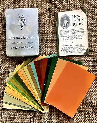 Rare National Lead Co. Dutch Boy Paint Salesman's Sample-Very Good Condition!!
