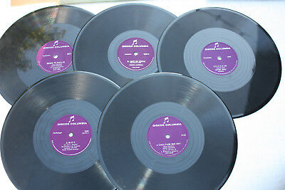 "78 Rpm 10""  -  Lot of 5 - Discos Columbia - LATIN - Mexico"