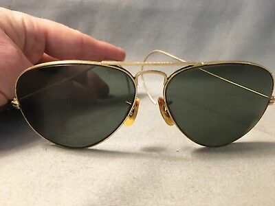 RAY-BAN Vintage Aviator Style Sunglasses B&L Gold Color Frames USA