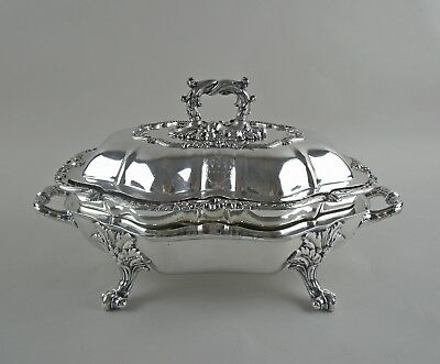 WH Sheffield Silver Plate Entree Warmer with Hot Water Base