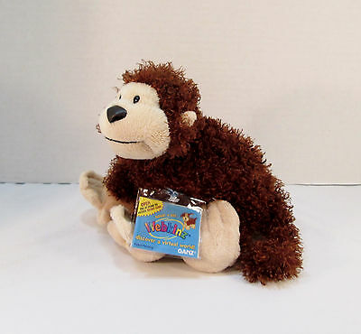 "8"" GANZ Webkinz Plush Cheeky Monkey HM080 w/ Sealed Code- Stuffed Animal Beanbag"
