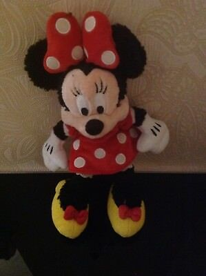 Minnie Mouse Walt  Disney  land Soft Toy Preowned  12 inches
