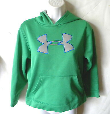 UNDER ARMOUR green pull over hoodie boys size youth medium  # 664