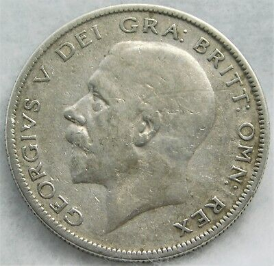 1928 Great Britain Half Crown Silver Coin with FINE - VERY FINE Details