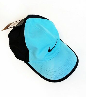 a40de0ce02da0 Nike Court Featherlight Dri-Fit Adjustable Tennis Hat Tahiti Blue 679421-432  New