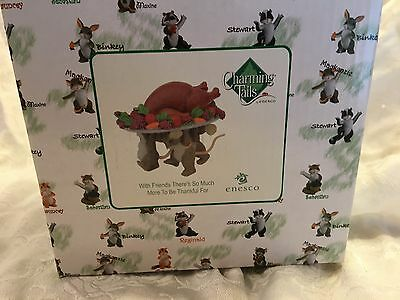 """Charming Tails """"WITH FRIENDS THERE IS SO MUCH"""" DEAN GRIFF  NIB THANKSGIVING"""