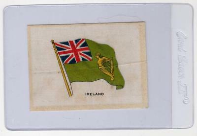 Vintage Silk - Ireland Flag - Unbranded Tobacco Silk / Satin - See Photos ---- A