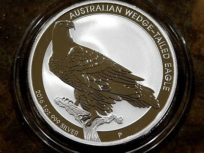 2016 Australian Wedge-Tailed Eagle .999 1 Troy Ounce Pure Silver Coin