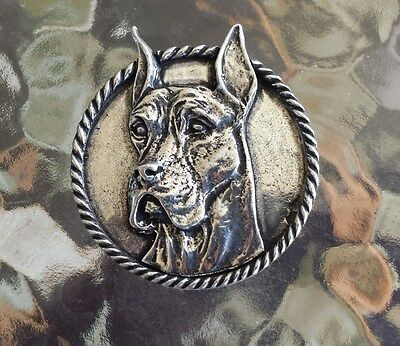 Family House Pet Purebred 1 Great Dame Dog Pewter Pin. All New.