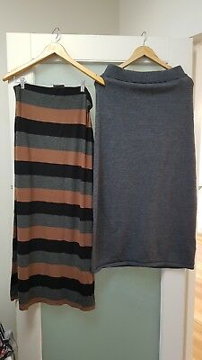 SUSSAN maxi skirts x2  M- great for maternity wear
