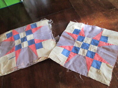 "Lot of 30 Vintage Plate Quilt Blocks patchwork 10 3/4"" x 10 3/4"""