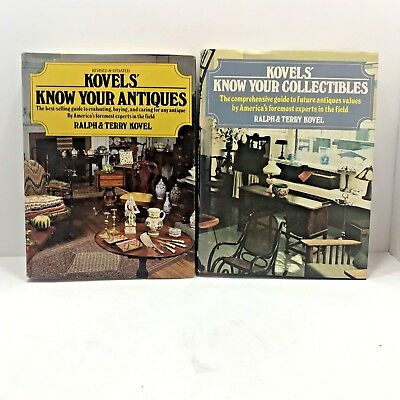 Book Bundle Kovels Know Your Antiques and Collectibles 2 Guides Vintage