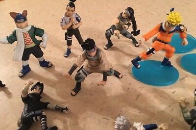 Lot of 15 NARUTO 2002 Action Figures with Standing Bases Accessories
