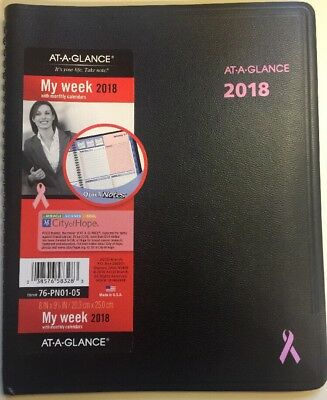 At A Glance 2018 QuickNotes Breast Cancer Schedule Appointment Book Calendar ZZ