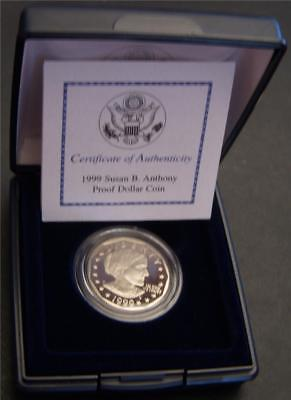 1999-P Proof Susan B. Anthony Dollar - Comes with Box and Certificate Proof SBA