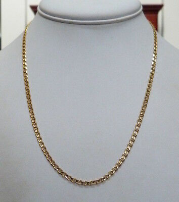 "Italy 14K Gold Anchor Link 3Mm Wide Chain Necklace 18"" Long ~ 8.1 Grams"