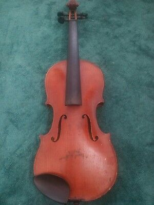 Antique Flame tiger stripe Back German Violin Viola Germany Coffin Case