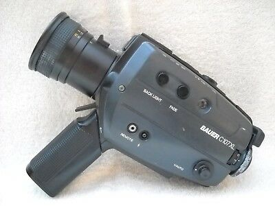 **bauer C107Xl Super 8 Movie Camera, Case/instructions Good Condition*