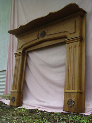RARE 1870s Antique CYPRESS Fireplace MANTEL Mantle, PROFESSIONALLY REFINISHED !!