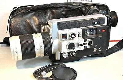 【WORKING】GREAT CANON 1014 Auto Zoom Super 8 Movie Camera  SEE VIDEO READ XTRAS