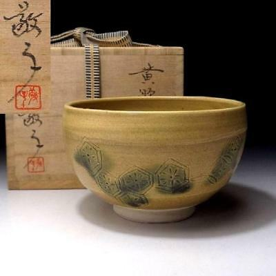UL5: Vintage Japanese Tea Bowl of Seto Ware by Famous Potter, Keiko Mizuno