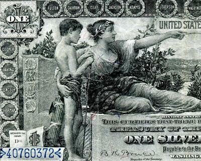 HGR SUNDAY 1896 $1 Silver Cert ((Educational)) AWESOME GRADE