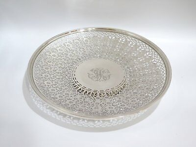 15 in - Sterling Silver Theodore B. Starr Antique Openwork Large Serving Plate