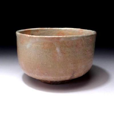 ZR8: Vintage Japanese Pottery Tea Bowl, Hagi ware