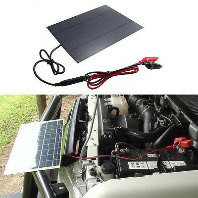 12V 5.5W Portable Solar Panel Power Battery Charger Backup for Car Boat Auto Hot