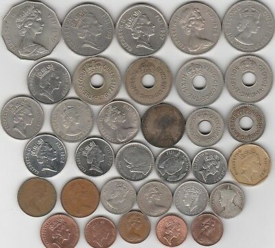 33 different world coins from FIJI some silver