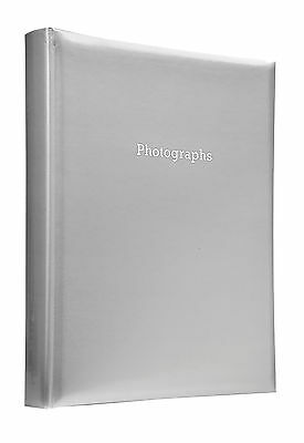Deluxe Large Silver Self Adhesive Photo Album Hold Various Sized Photos  50Pages
