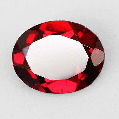 2.35CT Blood Red Pyrope Garnet Faceted Cut 100% Natural UQRA459