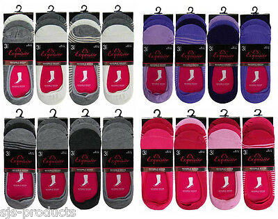 3 Or 6 Pairs Of Womens/ladies Invisible Trainer Shoe Socks Liners Size 4-7 New