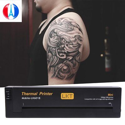 Pro Noir Tatouages transfert imprimante Tattoo thermocopieur printer SHHU